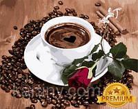 Картины по номерам 40×50 см. Babylon Premium Приглашение на кофе, фото 1