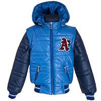 Весенняя куртка — жилетка на мальчика