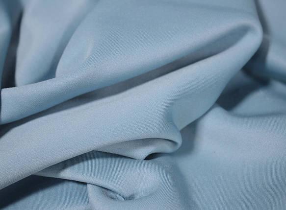 Трикотаж дайвинг голубой, фото 2
