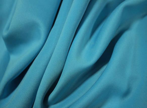 Трикотаж дайвинг голубая бирюза, фото 2