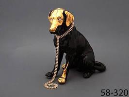 Статуэтка фарфор Собака 38 см
