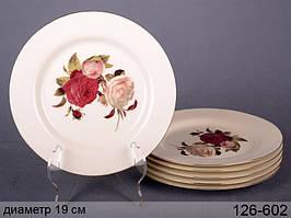 Набор тарелок Розы 6 предм. 126-602