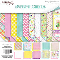 Набор двусторонней бумаги 30х30см от Scrapmir Sweet Girls 10шт