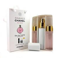 Набор с феромонами - Chanel Chance Eau Tendre (3×15 ml)
