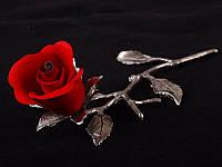 Изделие декоративное Union s.n.c. Красная роза 17 см фарфор