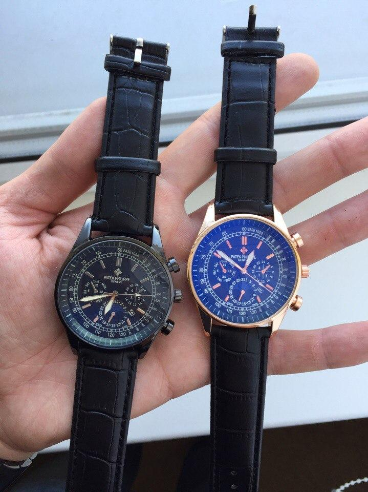 Мужские часы кварцевые PATEK PHILIPPE золотой корпус, недорогие наручные  часы fcae0f70c1c