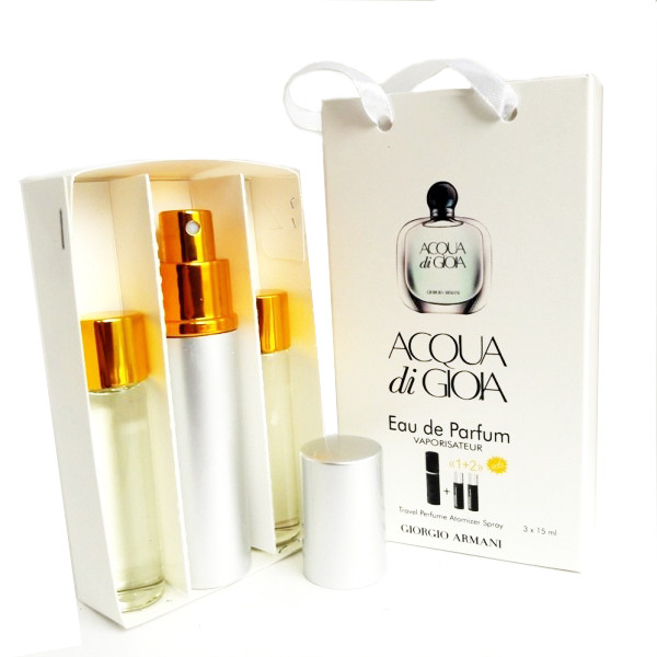 Набор с феромонами - Armani Acqua di Gioia (3×15 ml)