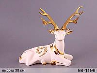 Статуэтка Олень 30 см фарфор 98-1198