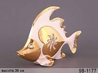 Статуэтка Золотая рыбка 36 см фарфор 98-1177