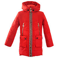 Весенняя куртка для девочки красного цвета