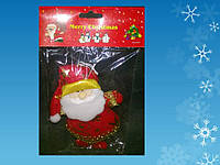 "Подвеска ""Дед Мороз, Санта"" h=12,5 см, красная, в п/п"