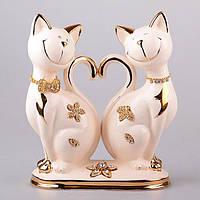 Статуэтка Парочка котиков 27 см фарфор 98-1362