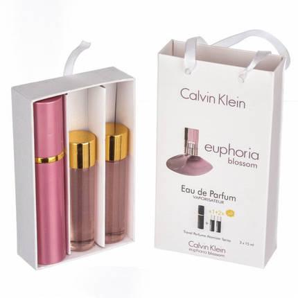 Набор с феромонами - Calvin Klein Euphoria Blossom (3×15 ml), фото 2
