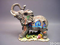 Статуэтка Слон 24 см керамика 59-046