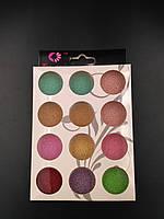 Набор бульонок 12 шт разные цвета