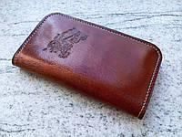 Кожаный чехол клатч для Motorola Moto Z Play (XT1635-02) (ручная работа, индивидуально под модель телефона)