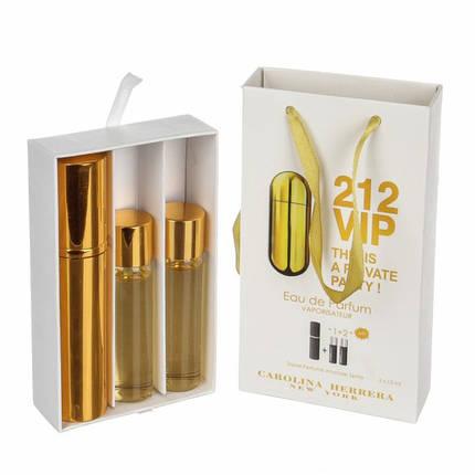 Набор с феромонами - Carolina Herrera 212 VIP (3×15 ml), фото 2