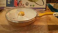 Сковорода скрышкойFRICO FRU-120 28 см (керамика)