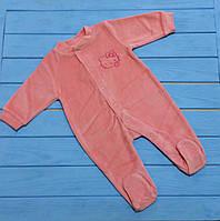 Велюровий чоловічок Fado (Польща), рожевий, 56, 62см.