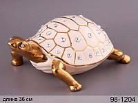 Статуэтка Черепаха 36 см фарфор 98-1204