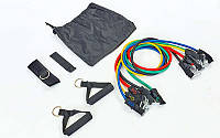 Набор эспандеров для фитнеса Resistance Band ET-501: 5 жгутов + 2 рукоятки