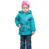 Демисезонная куртка — плащ для девочки рост 98-116