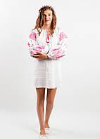 """Нарядное платье вышитое крестиком в народном стиле """"РОЗКІШ """"  для девочки размеры 140, 146, 152, 158"""