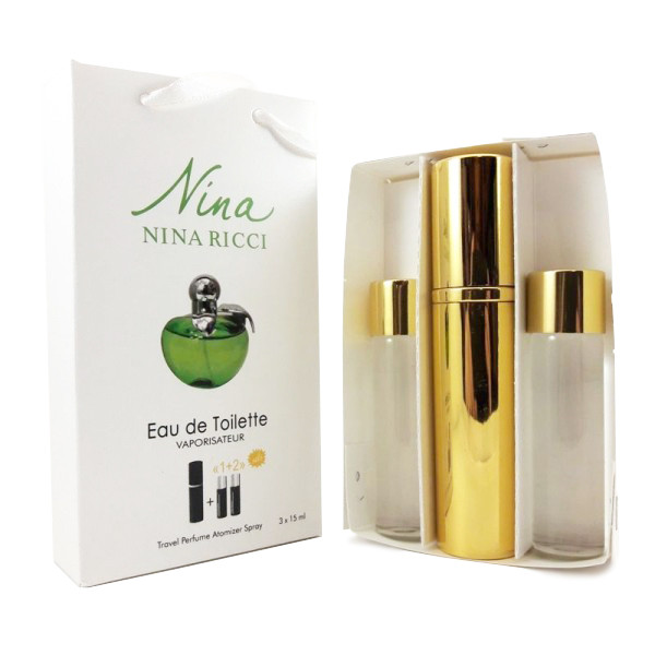 Набор с феромонами - Nina Ricci Nina Plain Green Apple (3×15 ml)