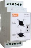 Реле контроля фаз и напряжения РН-311  3 полюса+N  2 регулировки  380В