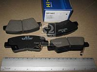 Колодка тормозная HYUNDAI ACCENT, ELANTRA 11- KIA SOUL 1.6 09- заднего (производитель SANGSIN) SP1401