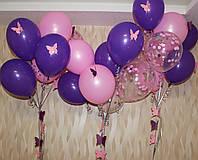 Гелиевые шарики с бабочками время полёта 48 часов