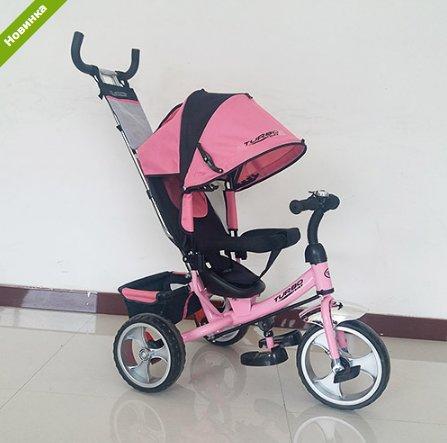 Трехколесный велосипед TURBO TRIKE M 3113-10 нежно розовый, колеса EVA