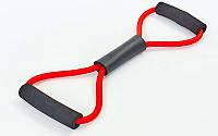 Эспандер трубчатый восьмерка для фитнеса ET-800C: нагрузка 5кг, фото 1