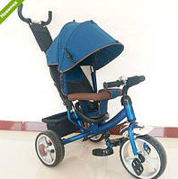 Трехколесный велосипед TURBO TRIKE M 3113-11 темно синий колеса EVA