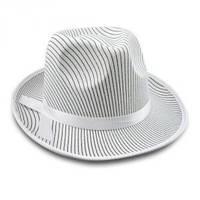 Шляпа Мафия гангстера белая в полоску