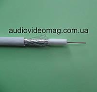 Телевизионный кабель коаксиальний RG-6U-32W 0.9 мм, цвет изоляции - белый