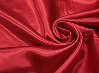 Ткань креп- сатин красный