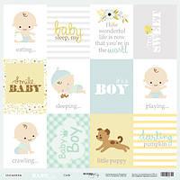 Лист односторонней бумаги 30x30 от Scrapmir Cards (ENG) из коллекции Smile Baby