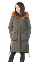 Женский зимний пуховик-парка Max Mara с натуральным мехом
