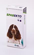 Жувальна таблетка BRAVECTO БРАВЕКТО від бліх та кліщів для собак 10-20 кг табл 1