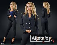 Женский костюм стильный пиджак + брюки