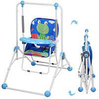 Качели детские+стульчик BAMBI NA 02 A-4 лягушка. Гарантия качества.Быстрая доставка.