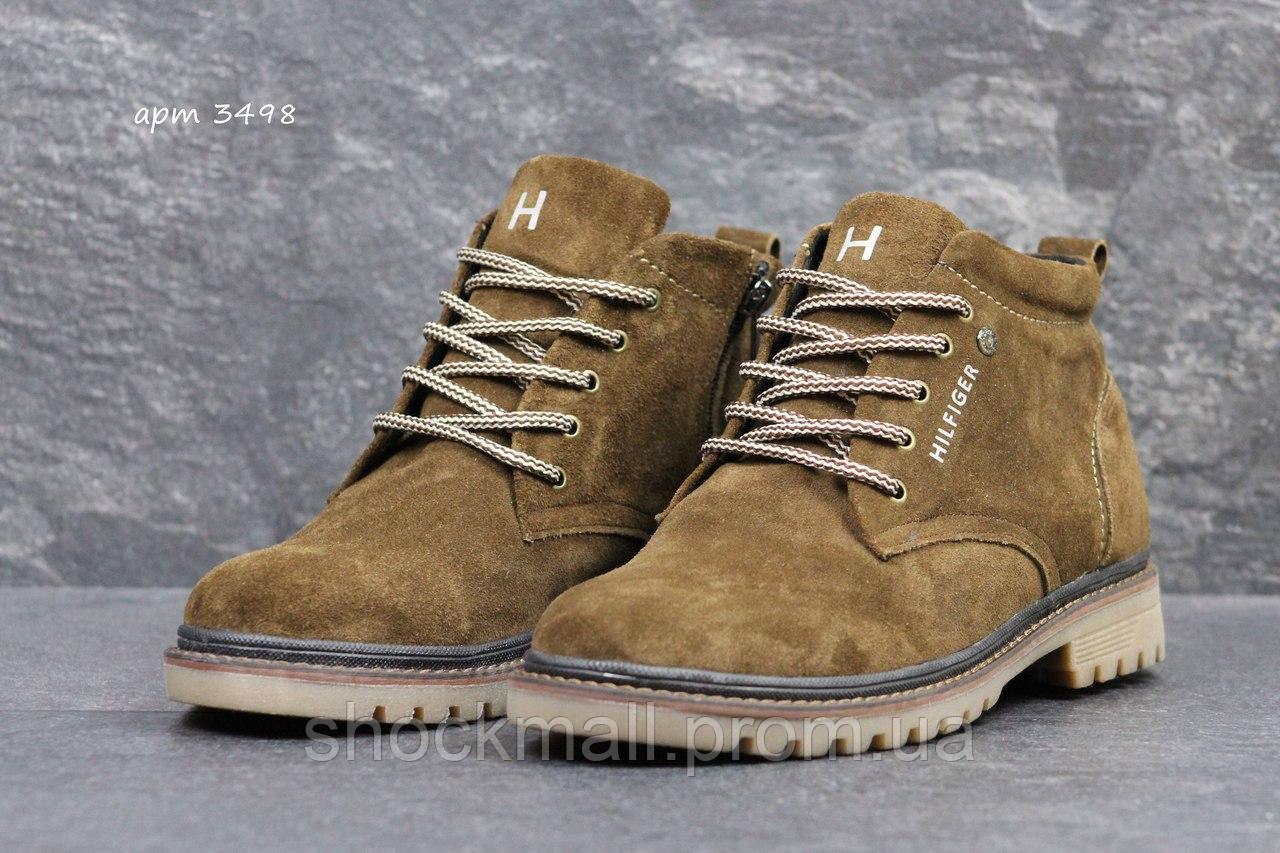 eb485b17f Зимние ботинки мужские натуральная замша Tommy Hilfiger реплика - Интернет  магазин ShockMall в Киеве