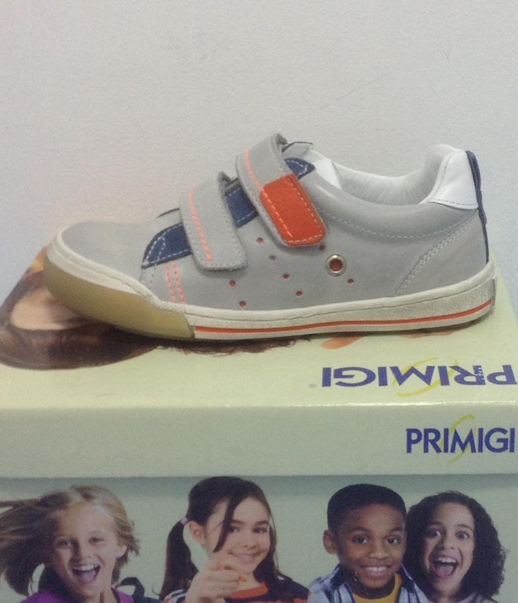 Кроссовки для мальчика  PRIMIGI AMLETO с двумя липучками кожаные