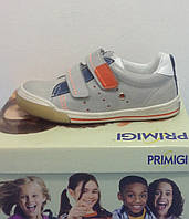 Кроссовки для мальчика  PRIMIGI AMLETO с двумя липучками кожаные, фото 1