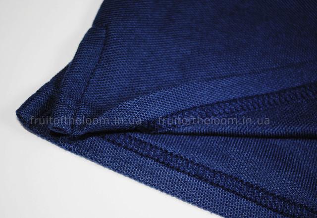 Тёмно-синее женское поло 65/35