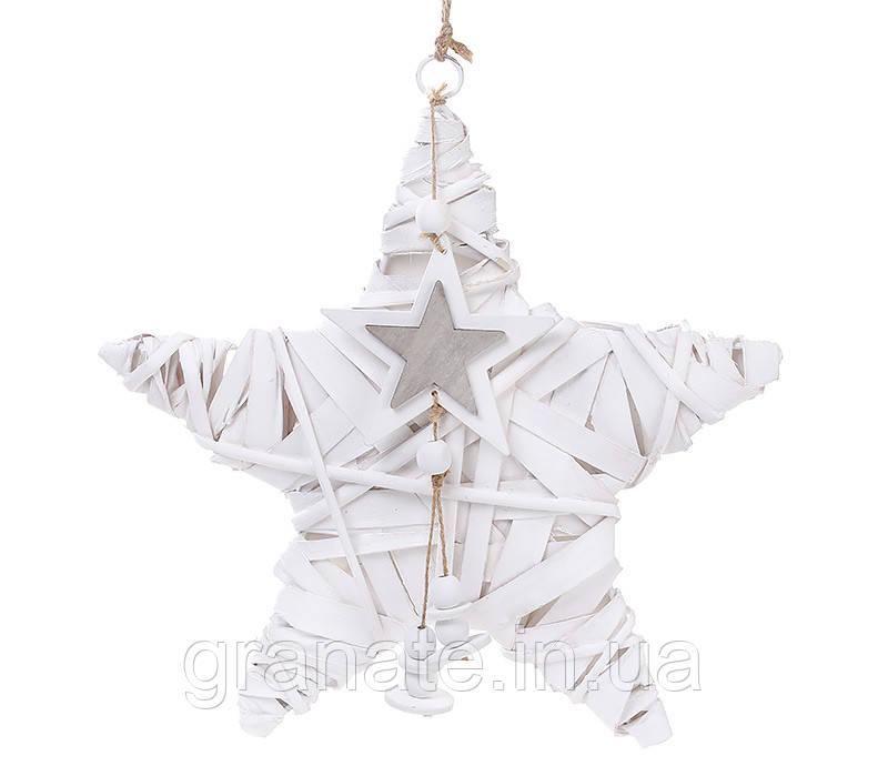 """Новогодний подвесной декор из ивы """"Звезда"""" 30 см  - GRANAT в Одессе"""