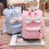 Мини рюкзак детский Микки. Портфель розовый