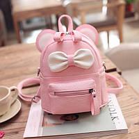 Маленький портфель детский Микки розовый