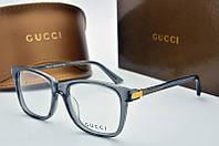 Оправа квадратная Gucci прозрачная темного цвета, фото 1